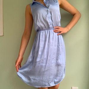 H&M Silky Blue Collared Dress